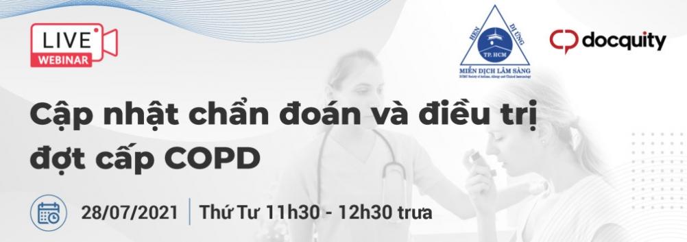 """Hội thảo trực tuyến: Chủ đề: """"CẬP NHẬT CHẨN ĐOÁN VÀ ĐIỀU TRỊ ĐỢT CẤP COPD"""" ngày 28/07/2021"""